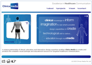 Clinica Media - Webdesign: Home Page