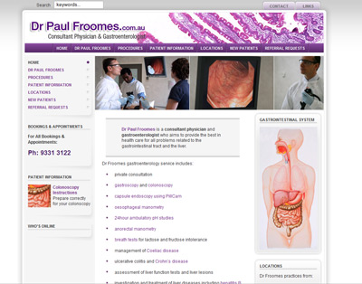 Dr Paul Froomes, Consultant Physician and Gastroenterologist